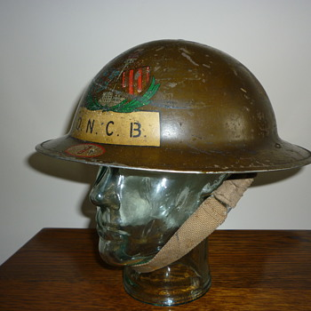 British WWII Colliery Fire/Rescue steel helmet.