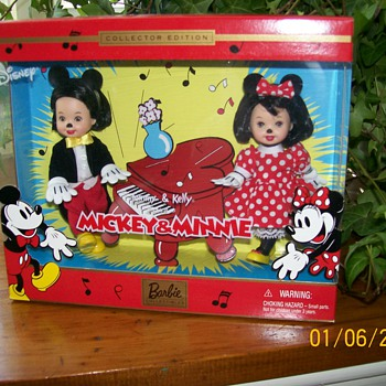 Disney and Mattel- Tommy and Kelly dressed as Minnie and Mickey - Dolls