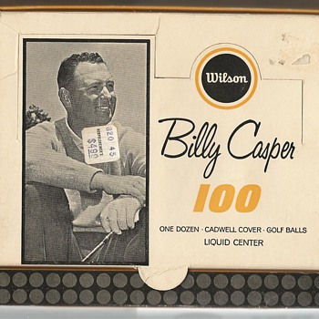 The Billy Casper 100 by Wilson Circa 1964 - Outdoor Sports