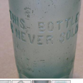 hourse shoe hutchinson bottle  - Bottles