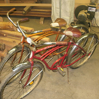 pair of typhoon vintage shwinn bikes - Sporting Goods