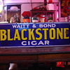 Embossed Early 1900&#039;s Waitt &amp; Bond &quot;Blackstone Cigar&quot; Porcelain Sign...Four Colors