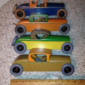 Circa 1930 Wood Toy Cars - Toys