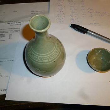 Celadon and cup