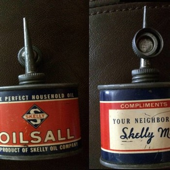 A small household oil tin - Accessories