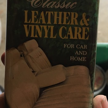 Classic Leather and Vinyl Care Tin - Advertising