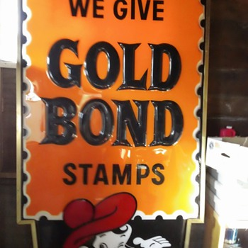GOLD BOND STAMP - Signs