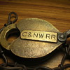 Old railroad padlock
