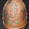 Vintage Old Strange Faberge type Easter Copper Egg