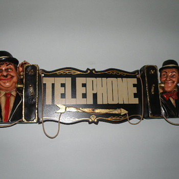 Stan Laurel and Oliver Hardy Telephone Sign