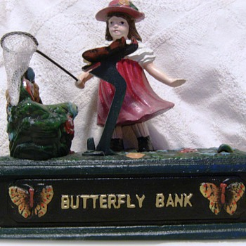 Cast Iron Butterfly Bank - Toys