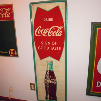 "1963 Coca-Cola Tin Sign, 18"" x 54"" - Coca-Cola"