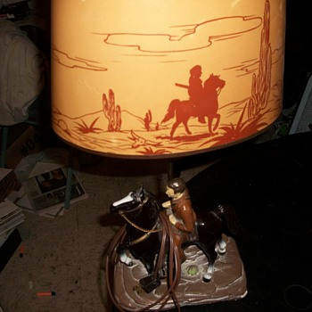 1955 Davy Crockett Lamp.  - Lamps