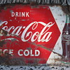 Drink Coca Cola tacker sign