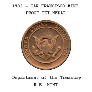 1982 - U.S. Proof Set Bronze Token
