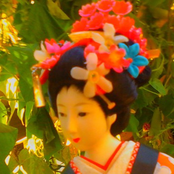 Spring beauty maiko with non-glass, painted on eyes (continued)