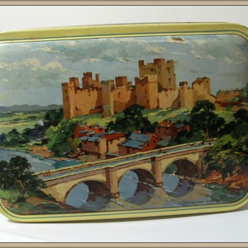 BLUE BIRD Toffee TIN - LUDLOW CASTLE - Advertising