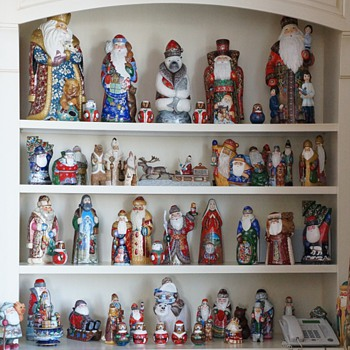 Carved Wooden Russian Santas!