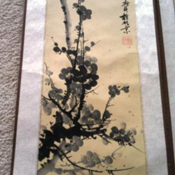Beautiful  oriental scroll