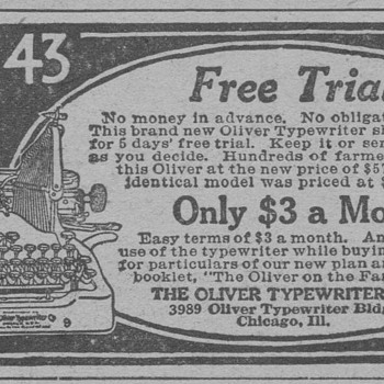 1919 - Oliver Typewriter Advertisement