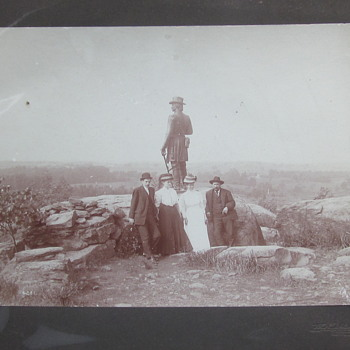 Little Round Top Visitors. - Military and Wartime