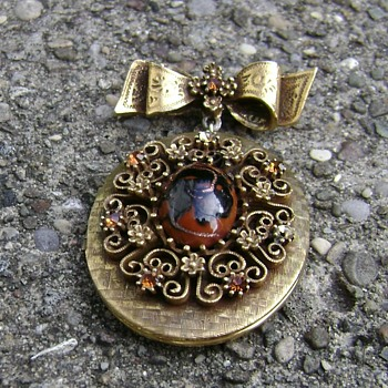 Corocraft Pin - Pendant - Locket - Costume Jewelry