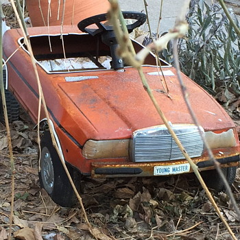 Neat toy car rusting away.