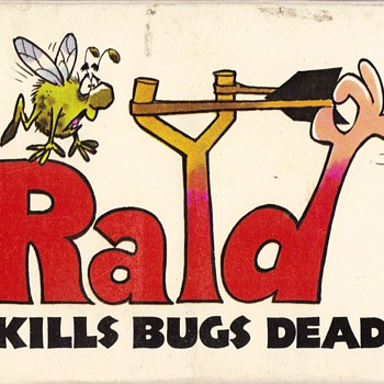 "RAID ""Kills Bugs Dead"" 2-deck playing cards - box art - Cards"