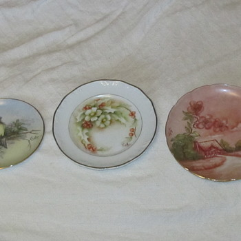 Painted plates by Celia Thaxter