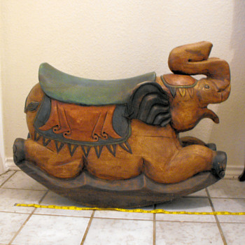 Solid Wooden Elephant Rocker - Animals