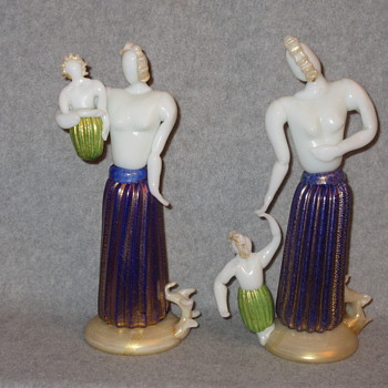 ERCOLE BAROVIER MOTHERHOOD FIGURINES