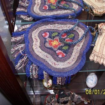 Vintage Beaded Hand Bag - Bags