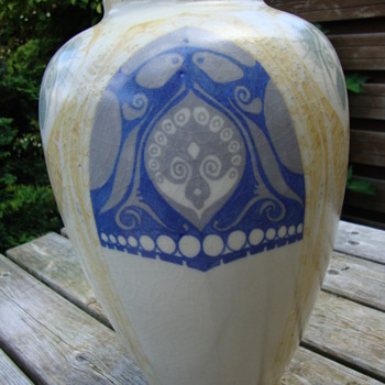 a large distel vase by nienhuis - Art Pottery