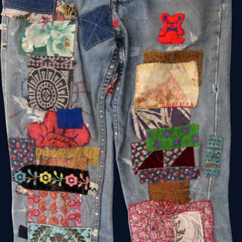 #11 ~ Radio Ray Wells' San Francisco Hippie Commune Patched Jeans