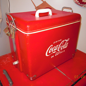 1955 Coca Cola Cooler, Royal-Mieco, Plastic Covered