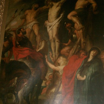 Amazing Huge Very Old Religious Oil Painting