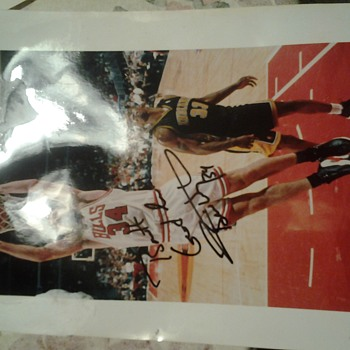 chicago bulls autographed pictures