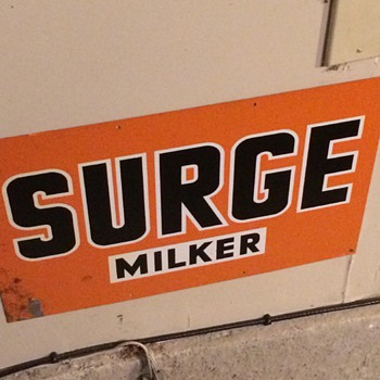 Surge Milker Sign - Signs