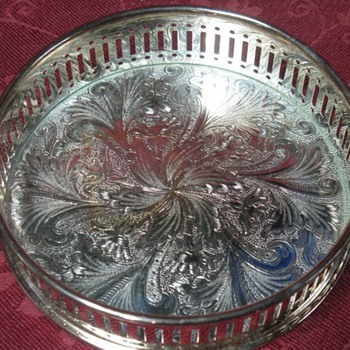 silver coaster holder. - Sterling Silver
