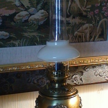 Bradley &Hubbard Small Oil Lamp Electrified