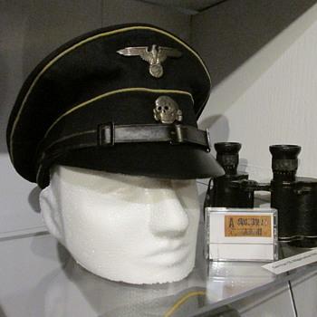 Original WWII German Allgemeine SS NCO visor cap