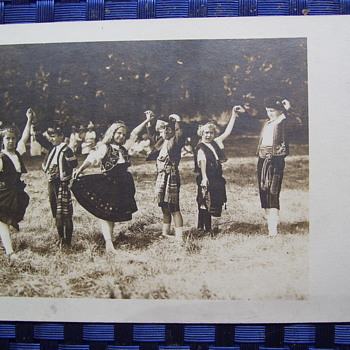 Folk Dancing Kids In Costumes, 1920?United States PC, Images turn silver with re-positioning of card- What type of film? - Photographs