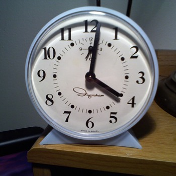 brazil made ingraham alarm clock - Clocks