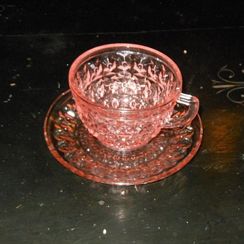 Holiday Pattern by Jeanette Post Depression Cup and Saucer