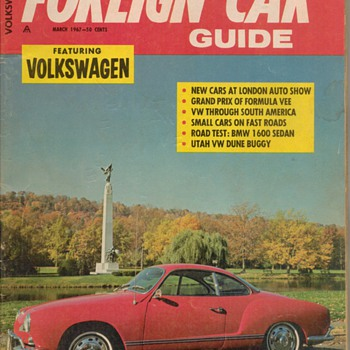 1967 Foreign Car Guide - VW - Paper
