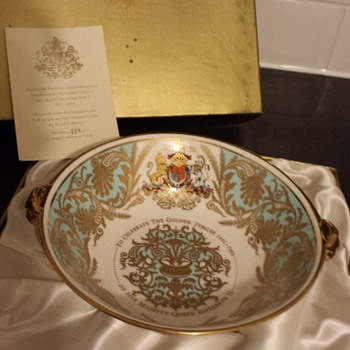 golden jubilee royal collection lion head bowl