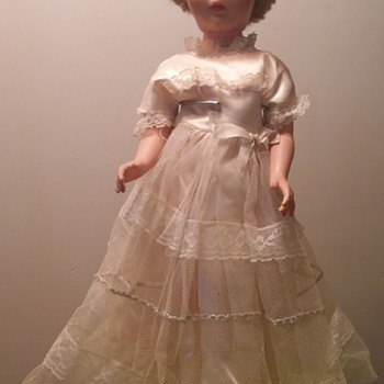 "19 1/2""Tall Old Vinyl Dolly"
