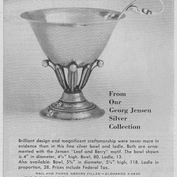 1950 Georg Jensen Silver Advertisements