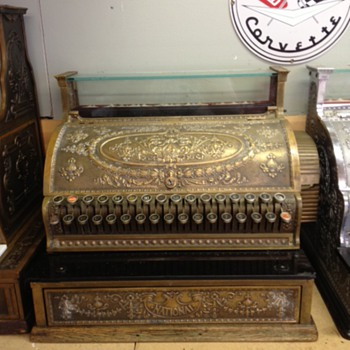 Brass National Cash Register found in Shelbyville, Indiana