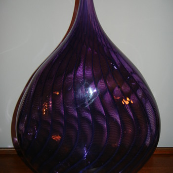 Transjo Hytta - Sweden - 18&quot; Glass Vase